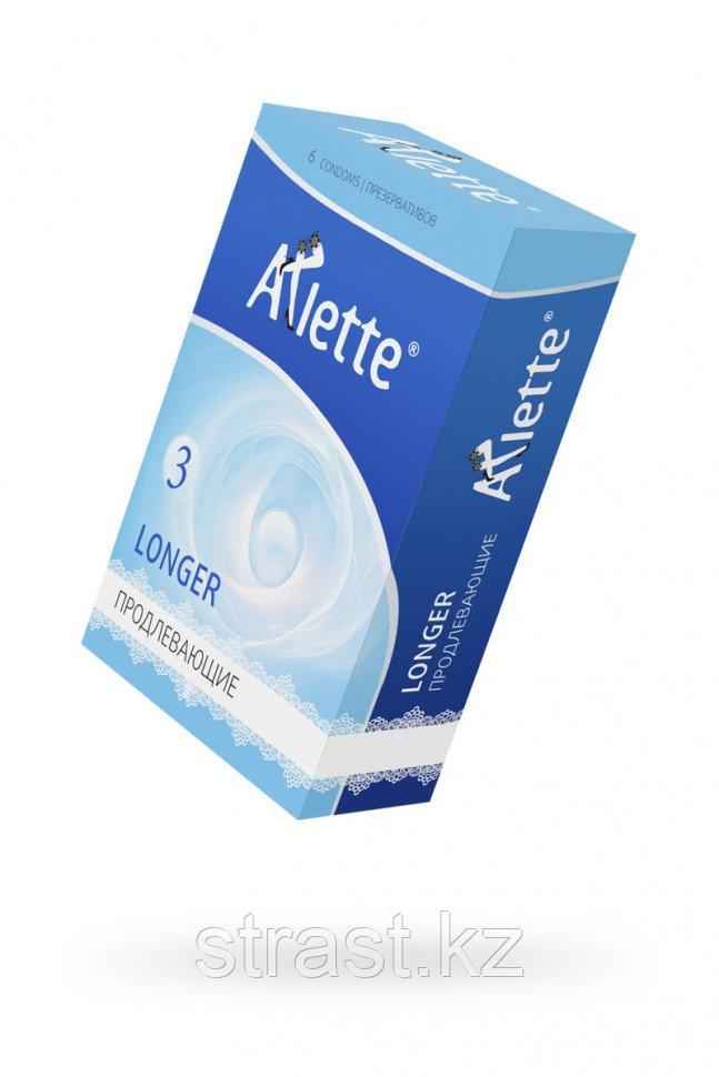 "ПРЕЗЕРВАТИВЫ ""ARLETTE"" №6, LONGER ПРОДЛЕВАЮЩИЕ 6 ШТ."