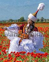 Казахские красивые платья на прокат в Алматы. Зеленое жайляу