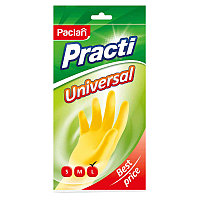"Перчатки резиновые Paclan ""Practi.Universal"", р.L, желтые, пакет с европодвесом"