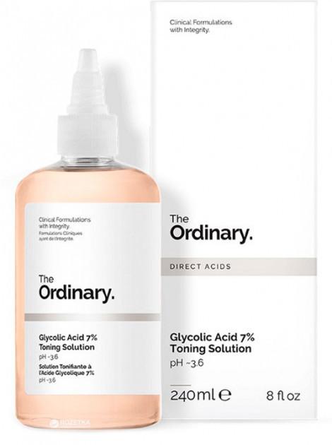 Обновляющий тоник с гликолевой кислотой The Ordinary Glycolic Acid 7% Toning Solution