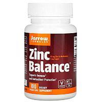 БАД Jarrow Formulas, Цинк, Zinc Balance (100 вегетарианских капсул)