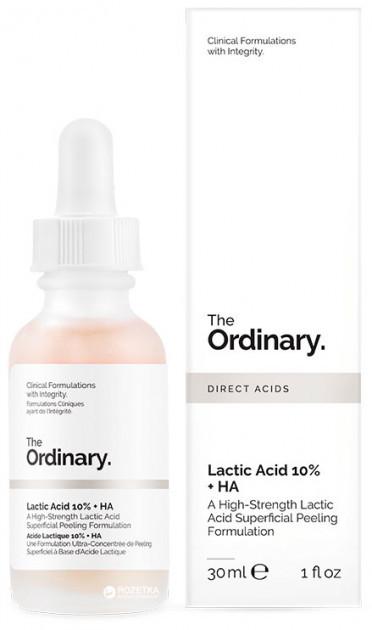 Пилинг с молочной кислотой The Ordinary Lactic Acid 10%+ HA