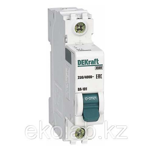Автоматический выключатель реечный DEKraft ВА101-1P-016A-C