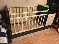 Кроватка-трансформер Фея 1100 венге-бежевый