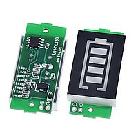 Световой индикатор заряда Li-ion батареи 1-8S (зеленая индикация)