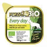 Forza10 Every Bio Pollo Rosa (птица)  влажный корм для собак из птицы с шиповником 150г