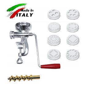 Макаронный экструдер пресс NEW Omra OM4001 лапшерезка ручная макаронница механическая машинка макарон Италия