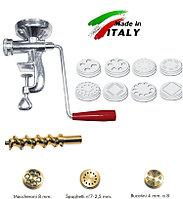 Макаронный пресс экструдер NEW Omra OM4003 лапшерезка ручная макаронница механическая машинка макарон Италия