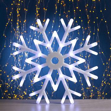 "Фигура ""Снежинка"" d=40 см, пластик, 30 LED, 220V, контрол. 8р. БЕЛЫЙ"