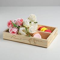 Ящик-кашпо подарочный Present, 4 ячейки, 27,5 × 20 × 4,5 см