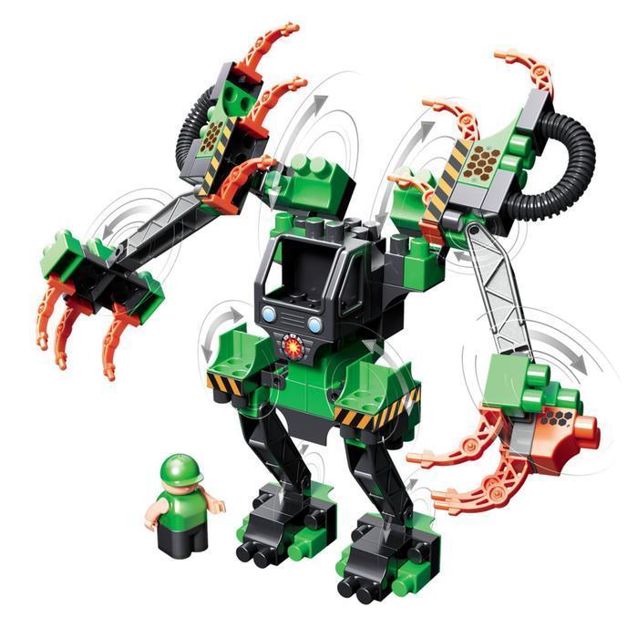 Набор с большим роботом и пилотом Technobot, цвет чёрный, оранжевый, зелёный - фото 2