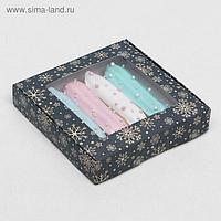 """Коробка самосборная бесклеевая """"Праздничная ночь"""", 16 х 16 х 3 см"""