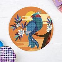 Алмазная мозаика для детей 'Птичка', 18 х 18 см. Набор для творчества