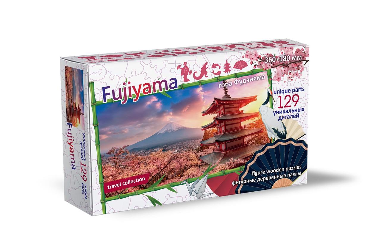 Фигурные Деревянные Пазлы Гора Фудзияма, Остров Хонсю, Япония, 129 дет.