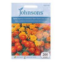 Семена цветов Тагетес (бархатцы отклоненные) 'Френч Бонита', смесь окрасок Johnsons, 200шт ,
