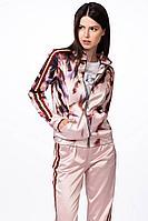 Женский осенний хлопковый розовый спортивный спортивный костюм Stilville 18C1504 птичка 46р.