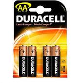 Батарейка DURACELL Basic АА 4шт LR6
