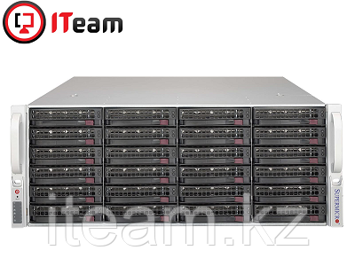 Сервер (СХД) Supermicro 4U/2xSilver 4208 2,1GHz/32Gb/No HDD/2x1280W