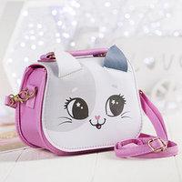 Детская сумка с ушками, цвет белый/розовый