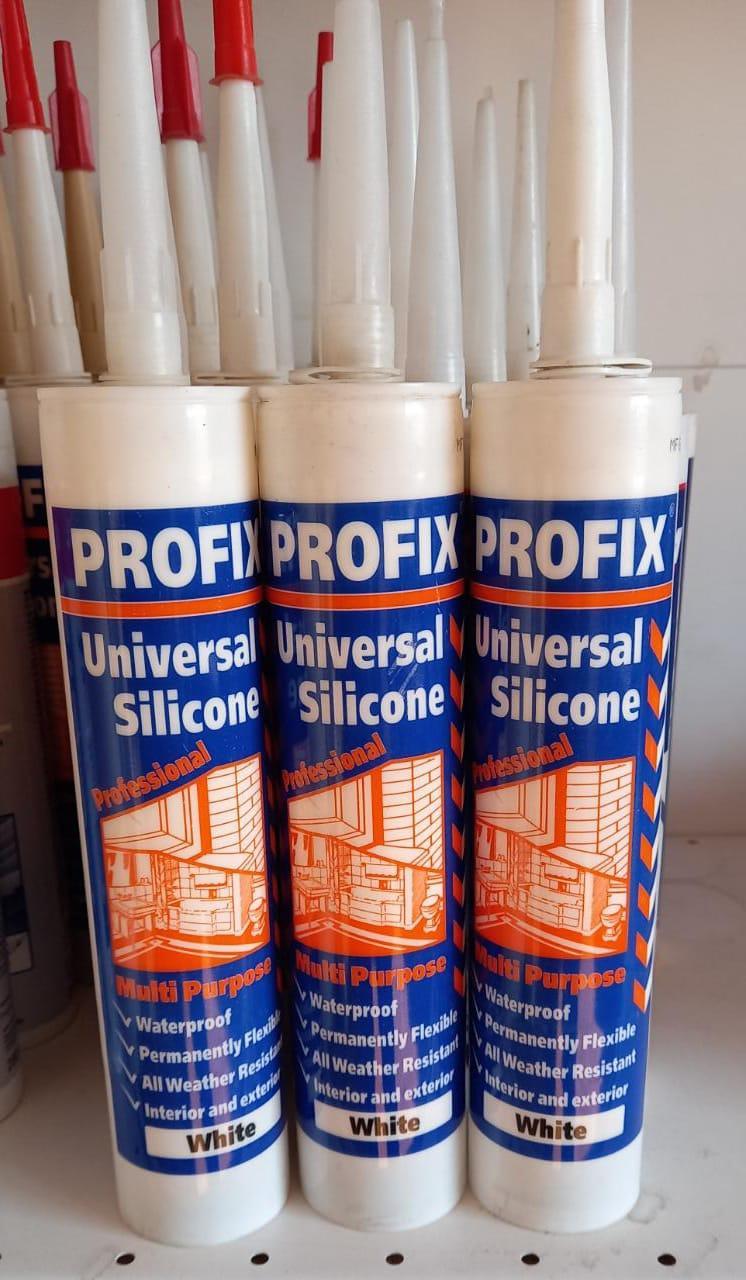 Герметик силиконовый, универсальный, белый 260 мл