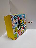 Коробка 25*20*9 см крышка + дно, с печатью в ассортименте