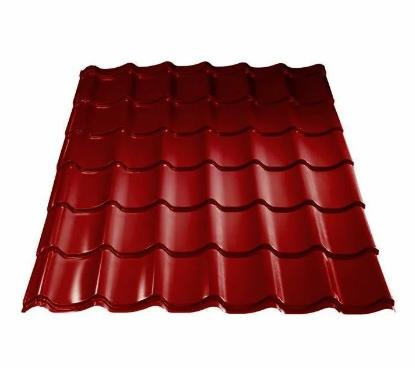 Металлочерепица 0,45 МП Ламонтерра X Полиэстер RAL 3005 Красный Цена 3515 тенге м2 при заказе свыше 100 м2