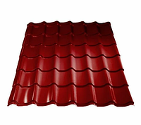 Металлочерепица 0,45 МП Ламонтерра X Полиэстер RAL 3005 Красный Цена 3515 тенге м2 при заказе свыше 100 м2, фото 1