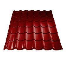 Металлочерепица 0,45 МП Ламонтерра X Полиэстер RAL 3005 Красный Цена 2730 тенге м2 при заказе свыше 100 м2