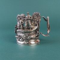 Коллекционный подстаканник из бронзы