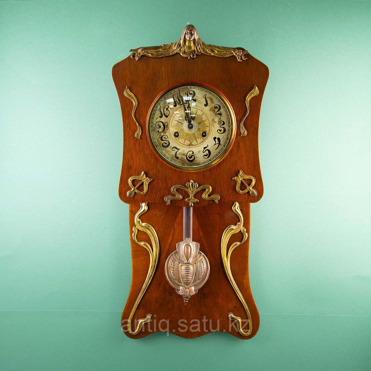 Редкие часы в стиле Ар Нуво. Часовая мастерская Junghans Германия. 1920-1930 годы. - фото 1