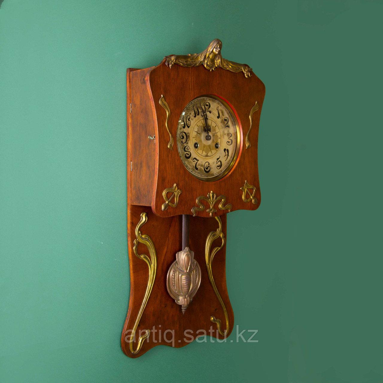 Редкие часы в стиле Ар Нуво. Часовая мастерская Junghans Германия. 1920-1930 годы. - фото 2