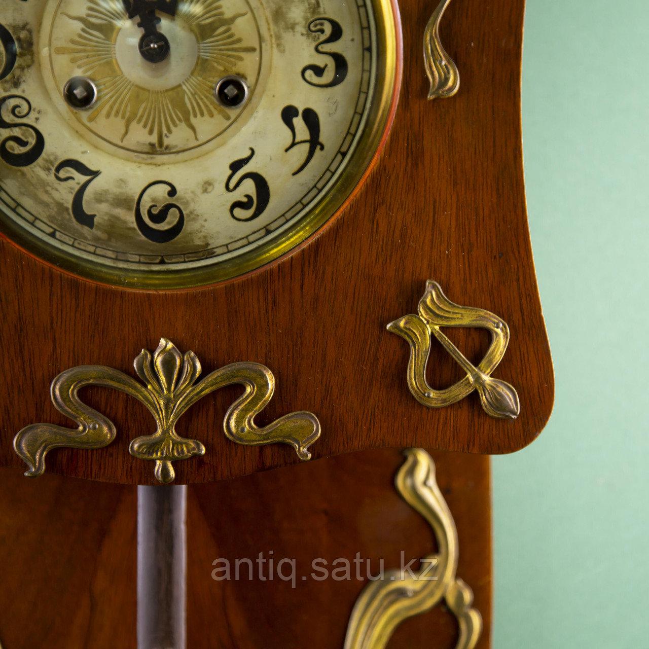 Редкие часы в стиле Ар Нуво. Часовая мастерская Junghans Германия. 1920-1930 годы. - фото 4