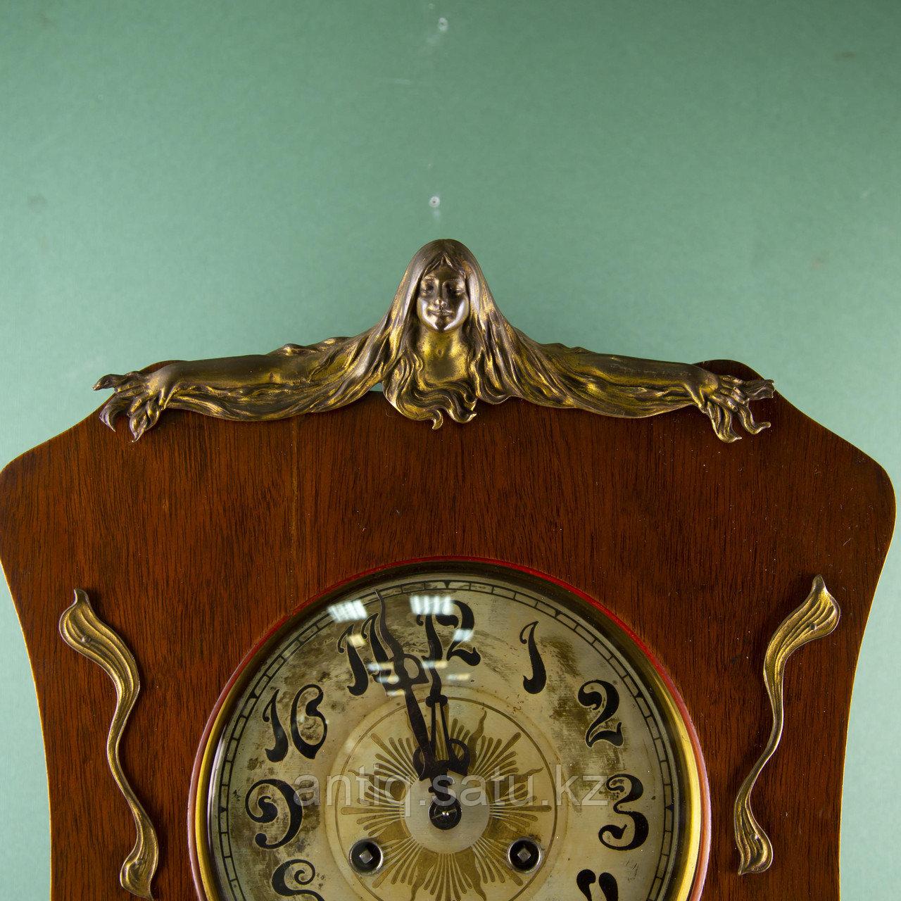 Редкие часы в стиле Ар Нуво. Часовая мастерская Junghans Германия. 1920-1930 годы. - фото 3