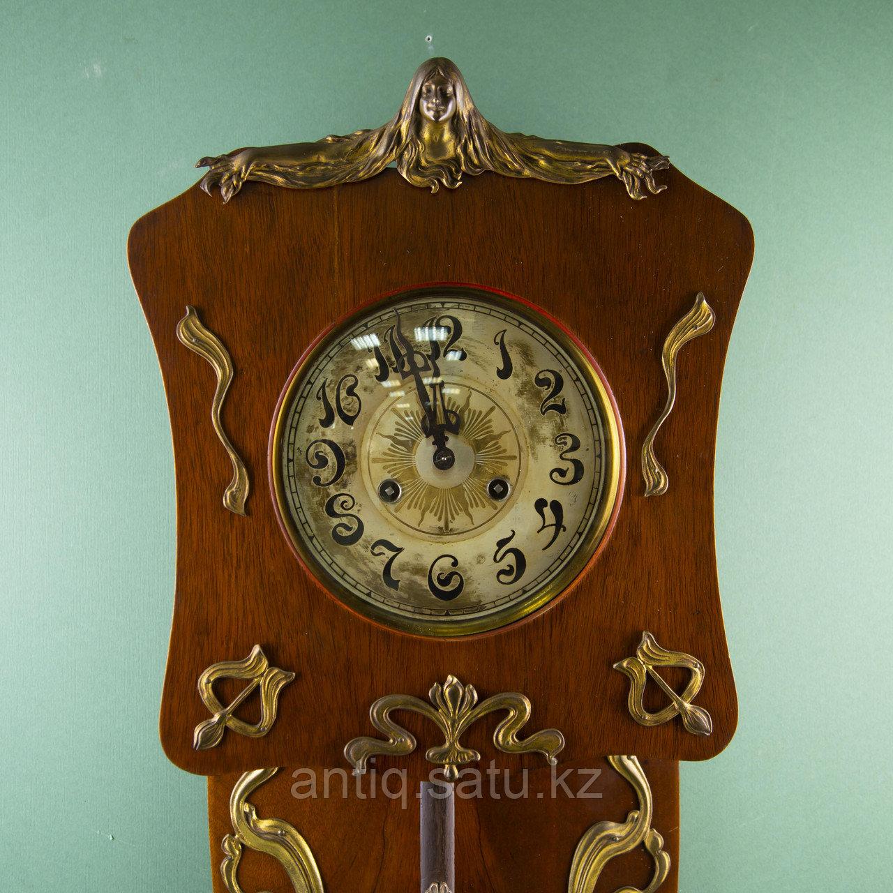 Редкие часы в стиле Ар Нуво. Часовая мастерская Junghans Германия. 1920-1930 годы. - фото 6