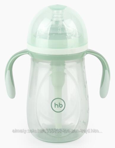 Бутылочка Happy Baby антиколиковая с ручками и силиконовой соской( 300 мл)