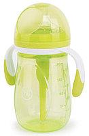 Бутылочка Happy Baby антиколиковая с ручками и силиконовой соской( 300 мл), фото 7