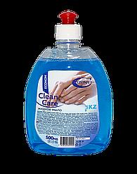 """Жидкое мыло Эконом """"Clean care"""" Oxima с пуш пул  0,5 л для рук"""