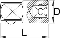 """Переходник с 1/4"""" - 188.7/2 UNIOR, фото 2"""