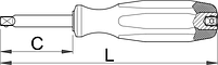 "Рукоятка прямая, 1/4"" - 188.8 UNIOR, фото 2"