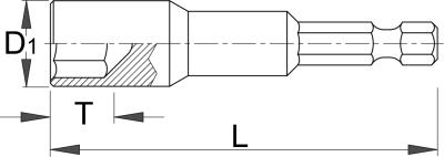 Ключ торцевой с битой - 188.10A UNIOR - фото 2