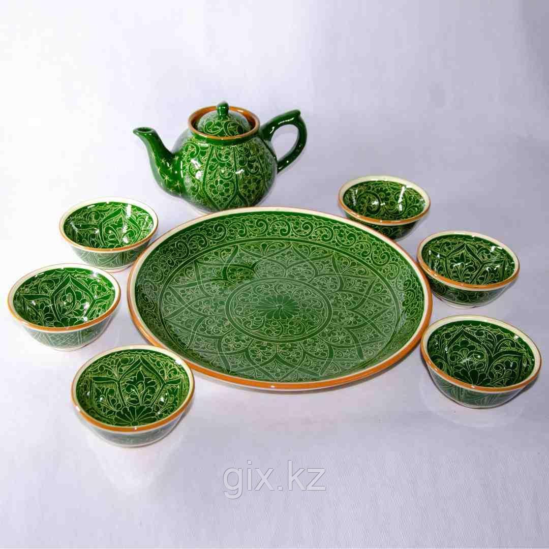 Чайный сервиз зеленый