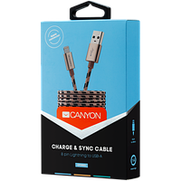 CANYON CFI-3 Lightning USB Cable for Apple Gold 1m