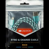 Зарядка для айфон 5/6/7 1м, CANYON CFI-3 Зеленый