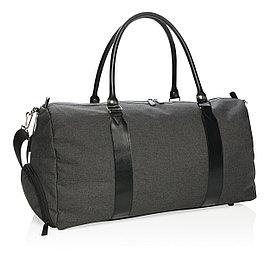 Спортивная сумка со встроенным USB - портом, черная