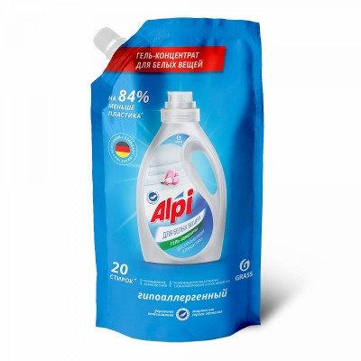 Концентрированное жидкое средство для стирки  ALPI white gel  (дой-пак), фото 2