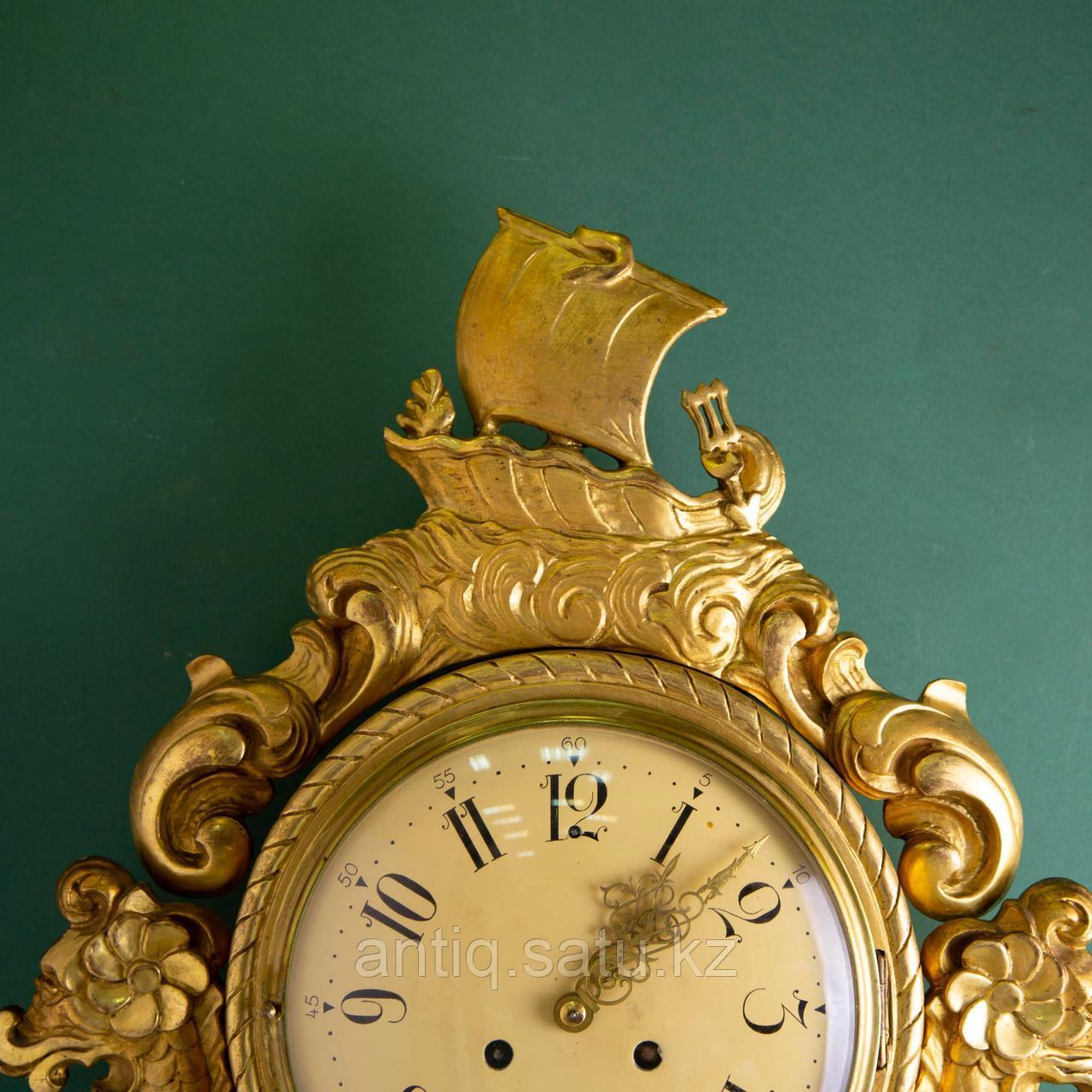 Настенные часы с морскими драконами. - фото 4