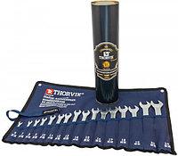 Набор ключей комбинированных в сумке, 16 предметов (6-19, 22, 24 мм) (в тубусе Thorvik) CWS0016T