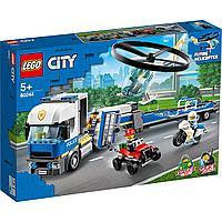 LEGO 60244 City Police Полицейский вертолетный транспорт, фото 1