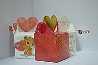 Коробка подарочная с сердцем 10*10*10 см в ассортименте