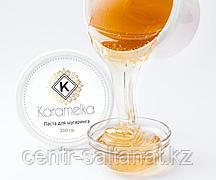 Сахарная паста для шугаринга натуральная плотной консистенции 550 мл Карамелька
